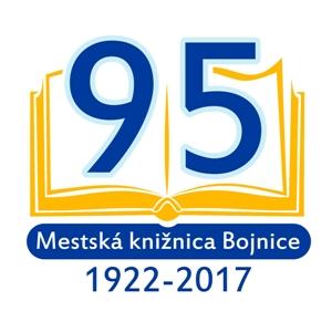 Mestská knižnica v Bojniciach logo 95. výročia vzniku